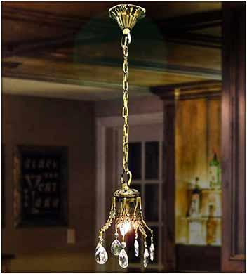 Подвесная люстра для барной стойки 1 ламп