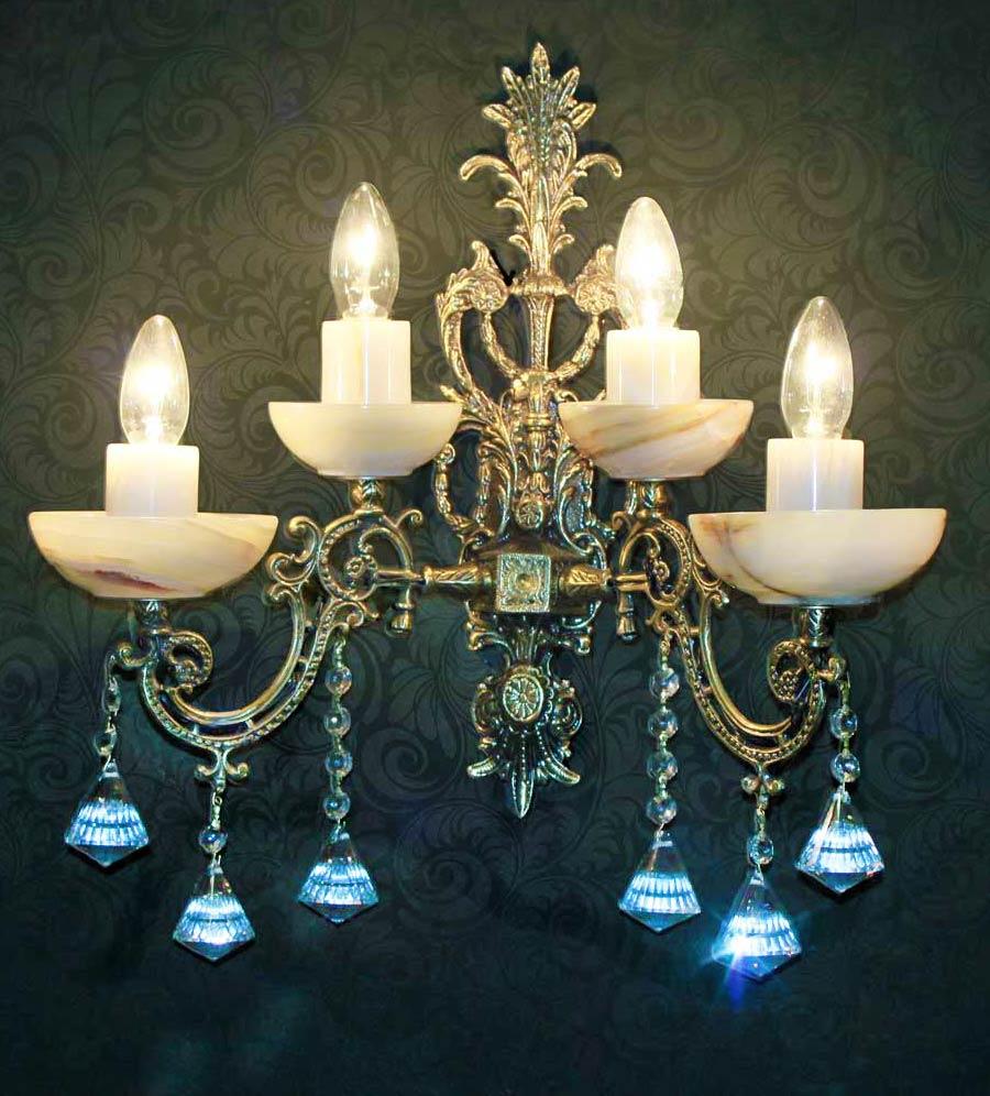 бра 4 лампы бронза