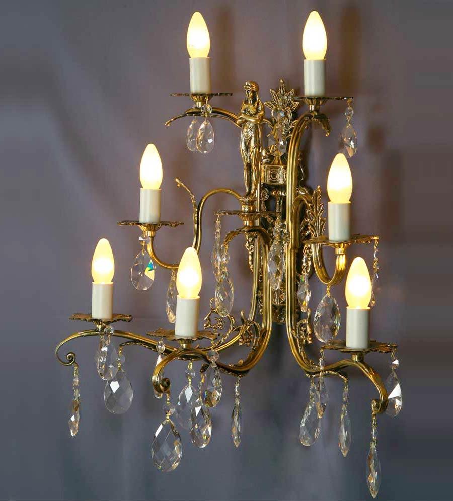 Бра 7 ламп со статуэткой