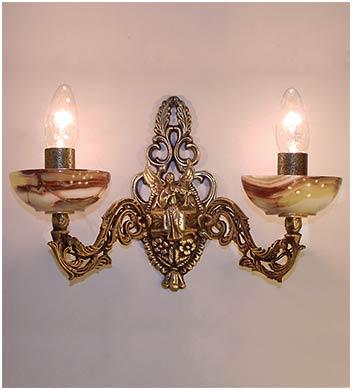Бра бронза с ониксом 2 лампы