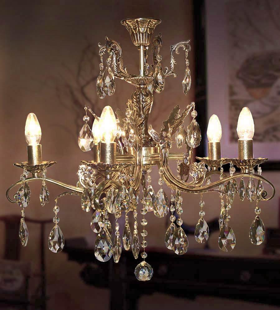 Люстра бронза 5 ламповая