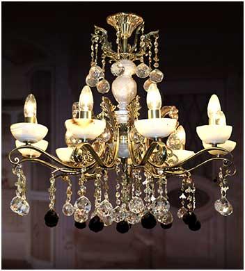 люстра для гостиной комнаты бронза м ониксом 9 ламп
