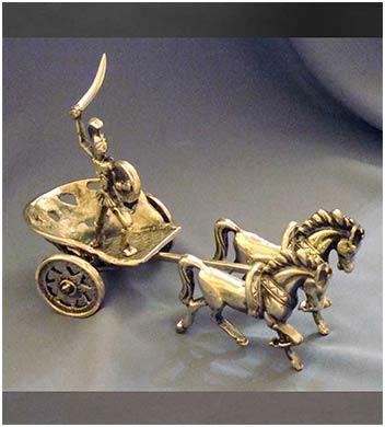 статуэтка римская колесница